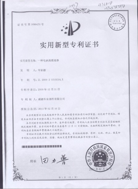 The patent for utility model